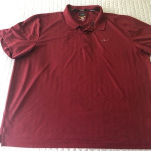 Greg Norman Tasso Elba five iron play dry shirt